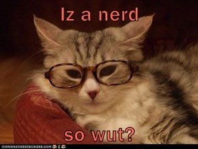 Iz a nerd  so wut?