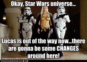 Okay, Star Wars universe...