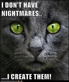I DON'T HAVE NIGHTMARES..  ....I CREATE THEM!