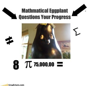 Mathmatical Eggplant Questions Your Progress