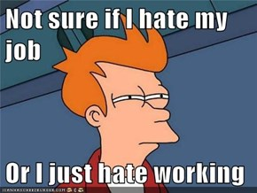 Not sure if I hate my job  Or I just hate working