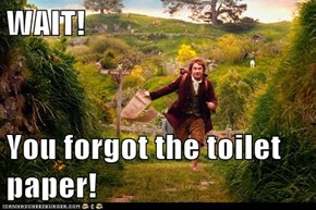 WAIT!  You forgot the toilet paper!