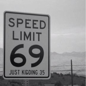 Funny Speed Limit