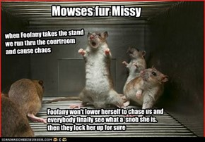 mowse community comes out in support of Missy. plan to disrupt trial