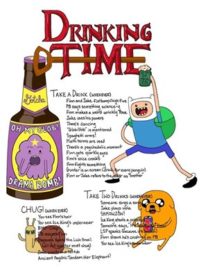 The New Adventure Time Drinking Game