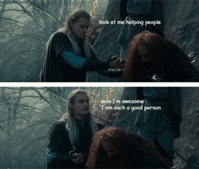 Gold Star for You, Legolas!