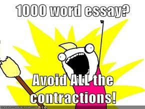 1000 Word Essay?