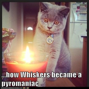 ...how Whiskers became a pyromaniac