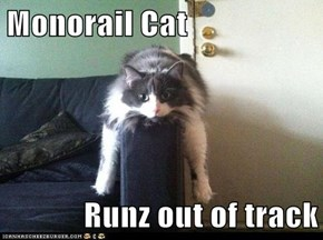 Monorail Cat  Runz Out of Track