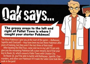 Professor Oak is a Dirty Rotten Liar