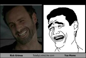 Rick Grimes Totally Looks Like Yoa Meme