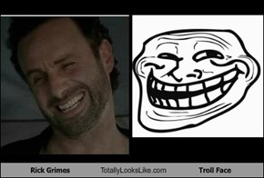 Rick Grimes Totally Looks Like Troll Face