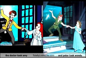 the doctor took amy  Totally Looks Like and peter took wendy