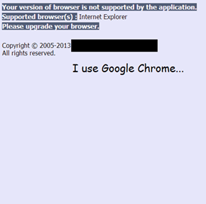 I use Google Chrome