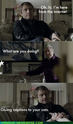 Sherlock know's how to internet.