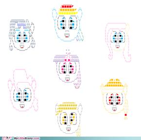 my little text art- typing is magic: mane/main 6 & a derp