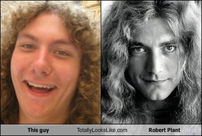 This guy Totally Looks Like Robert Plant