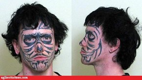 Awful Face Tat Should Land Tattooist in Jail1