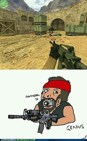 Cameras in First Person Shooters