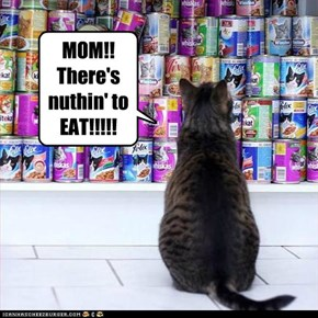 MOM!! There's nuthin' to EAT!!!!!
