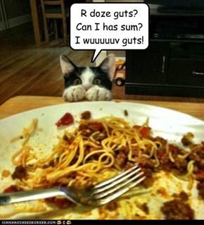 I may NEVER eat spaghetti again!