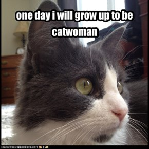 one day i will grow up to be catwoman