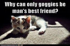 Why can only goggies be man's best friend?