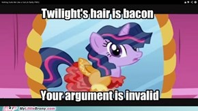 Your argument is delicious