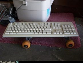 Keyboard Skateboard