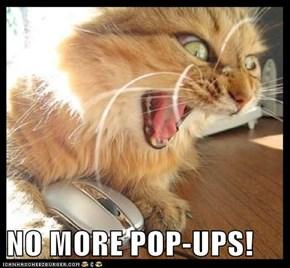 NO MORE POP-UPS!