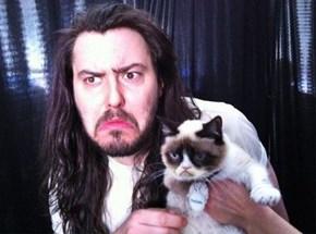 Andrew W.K. Meets Grumpy Cat