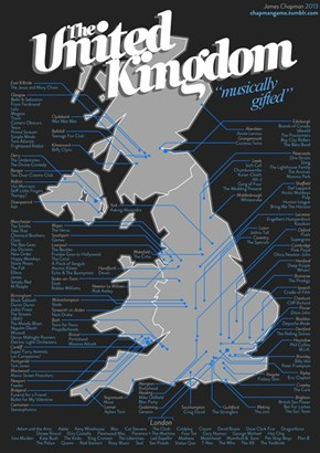 Where Are Your Favorite British Musicians From?