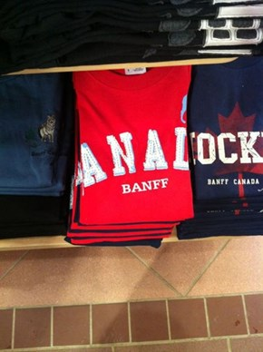 "Be Careful How You Fold Those ""Canada"" Shirts"