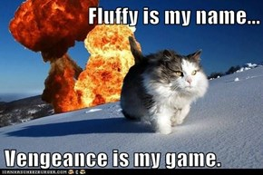 Fluffy is my name...  Vengeance is my game.