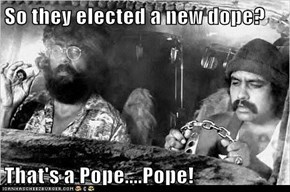 So they elected a new dope?  That's a Pope....Pope!