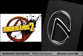 Borderlands Vault Symbol Totally Looks Like Sideways Lexus logo