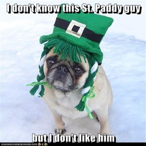 I don't know this St. Paddy guy  but I don't like him