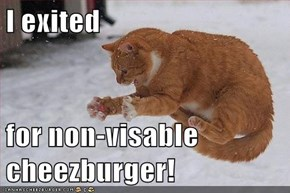 I exited  for non-visable cheezburger!