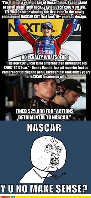 NASCAR hypocrisy
