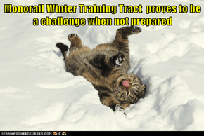 Monorail Winter Training Tract  proves to be a challenge when not prepared