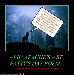 ~LIL' APACHE'S ~ ST. PATTY'S DAY POEM...