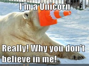 I'm a Unicorn  Really! Why you don't believe in me!