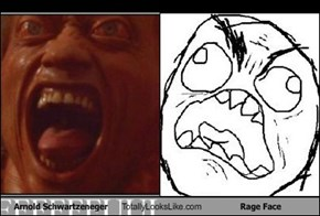 Arnold Schwartzeneger Totally Looks Like Rage Face