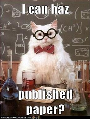 I can haz  published paper?