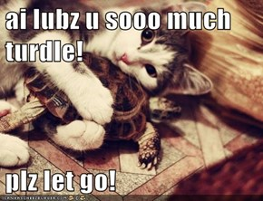 ai lubz u sooo much turdle!  plz let go!