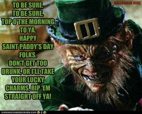 Happy Saint Paddy's Day!