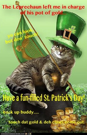 Enjoy a green Guinness on me!  Happy St. Patrick's Day my frends