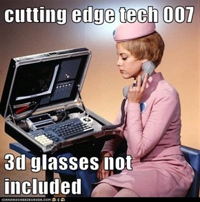 cutting edge tech 007  3d glasses not included