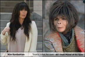 Kim Kardashian Totally Looks Like Ari - from Planet of the Apes