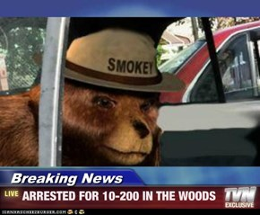 Breaking News - ARRESTED FOR 10-200 IN THE WOODS